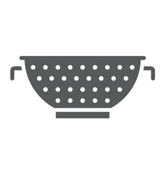 colander glyph icon kitchen and cooking strainer vector image