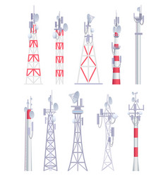 communication tower cellular broadcasting tv vector image