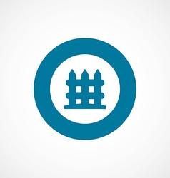Fence bold blue border circle icon vector