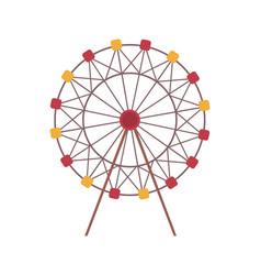 Ferris wheel amusement park attraction isolated vector