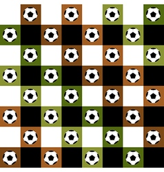 Football Ball Green Brown Chess Board vector