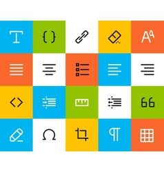 Formatting and editing icons flat vector