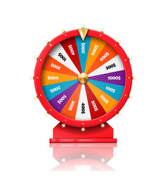 Fortune wheel casino roulette luck win spin game vector