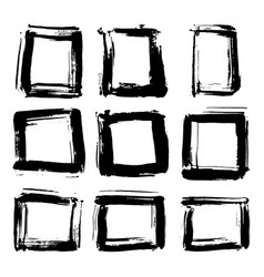 frames and text boxes grunge textured hand drawn vector image