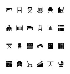 Furniture Hand Drawn Icons 4 vector image