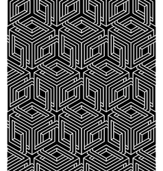 Geometric seamless pattern endless black and white vector image