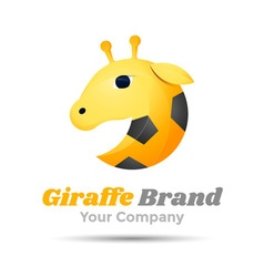 Giraffe Volume Logo Colorful 3d Design Corporate vector image