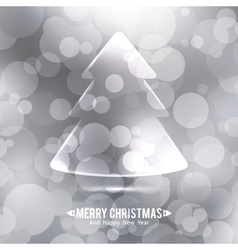 Glass christmas tree vector
