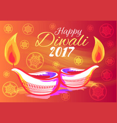 happy diwali 2017 wish vector image