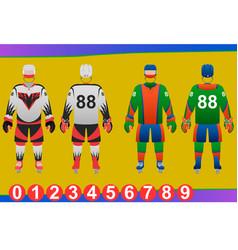 Ice hockey jersey design vector