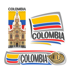 Logo colombia vector