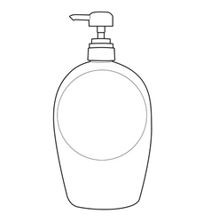 lotion bottle outline vector image