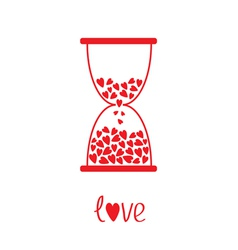 Love hourglass with hearts inside Card vector