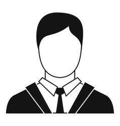 Man in business suit icon simple style vector