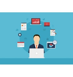 Marketing research vector