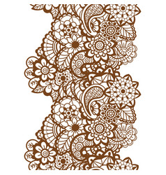 Mehndi ribbon paisley design vector