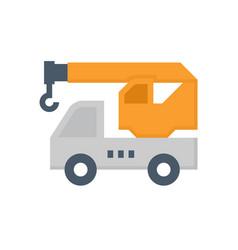 mobile crane icon vector image