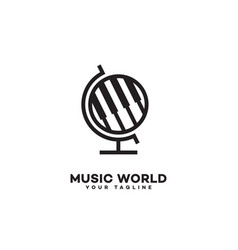 Music world logo vector