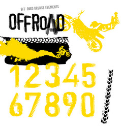Off-road motorcross set vector