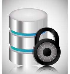 Padlock data center web hosting graphic vector