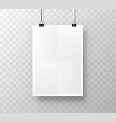 paper poster a4 on the white background vector image