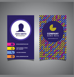 Patterned business card vector