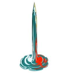 Pencil rocket takeoff vector