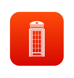 phone booth icon digital red vector image