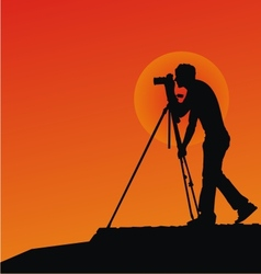 Photographer Silhouettes vector image