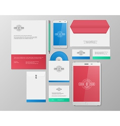 Realistic Corporate Identity Business Set Design vector