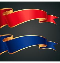 Ribbon redblue gold vector