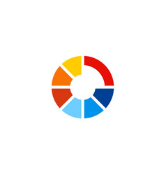 round colorful technology logo vector image