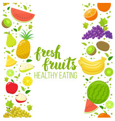 seamless fruits vertical border vector image