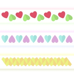 Several variants of hearts vector image
