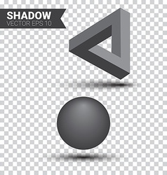 Shadow effect vector image
