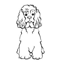 sketch funny dog sitting vector image
