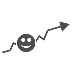 smile growing trend flat icon vector image