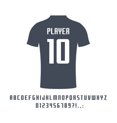 sport universal font for soccer football vector image