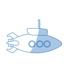 submarine with periscope bathyscaphe cartoon vector image