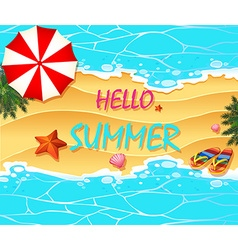 Summer holiday on the beach vector image