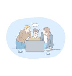 Teamwork brainstorming business communication vector