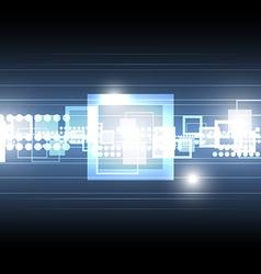 tech square shape background vector image