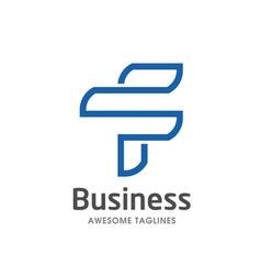 unique letter f creative logo template vector image
