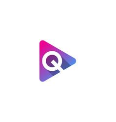 video letter q logo icon design vector image
