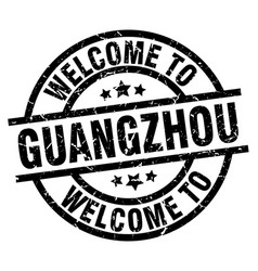 Welcome to guangzhou black stamp vector