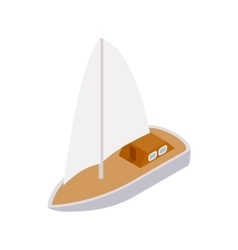 Yacht icon isometric 3d style vector image