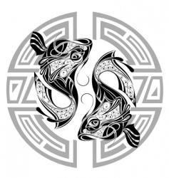 Zodiac signs pisces vector