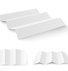 Blank white paper template vector image vector image