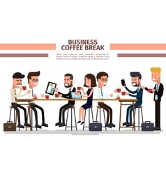 Business coffee break vector image