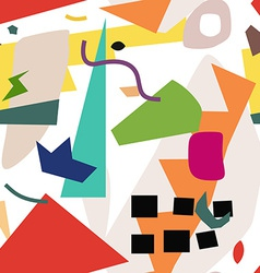 Fashionable art seamless pattern vector image